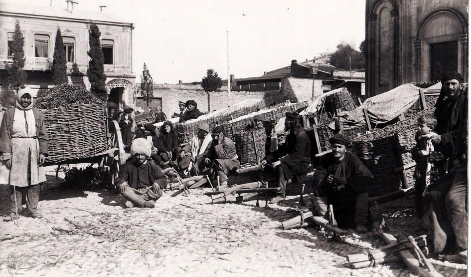 ყურძნის ბაზრობა ქუთაისში – XIX საუკუნის მეორე ნახევარი
